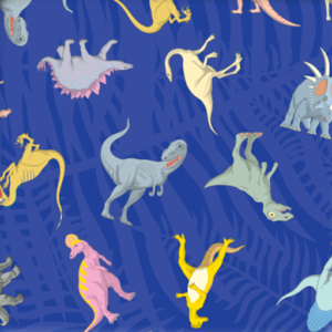 Dynamic Orthopedics Transfer Paper Blue Dinosaurs