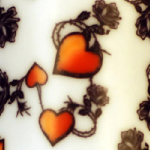 Dynamic Orthopedics Transfer Paper Hearts and Roses White