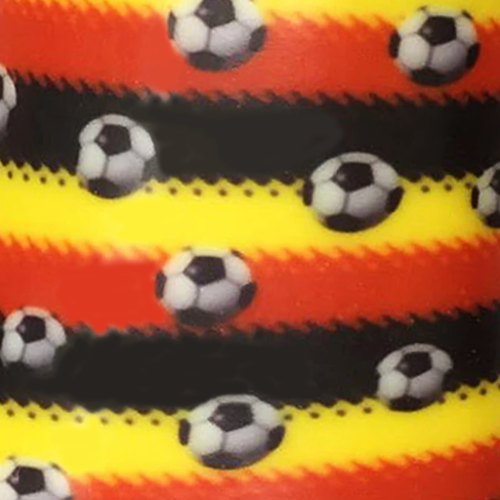 Dynamic Orthopedics Transfer Paper Soccer Red Black Stripe