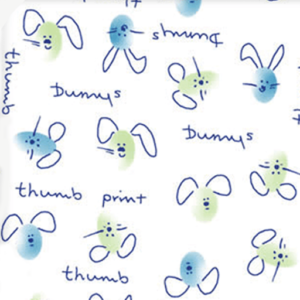 Dynamic Orthopedics Transfer Paper Thumbprint Bunnies Blue Green