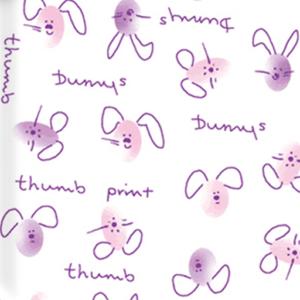 Dynamic Orthopedics Transfer Paper Thumbprint Bunnies Pink Purple